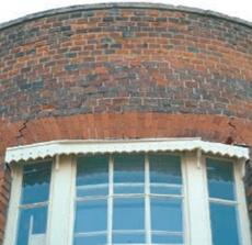 brick arches window head details in exterior brick walls