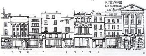 The Same Street Frontage As Shown In Talliss London Views Of 1847 Showing Surviving Earlier Timber Framed Buildings And Thomas Hoppers Insurance