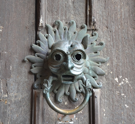 The boarded main south door at Durham Cathedral with fillet mouldings and a replica of its original 12th-century bronze \u0027Sanctuary knocker\u0027 (Photo Jonathan ... & Early and Vernacular Timber Doors
