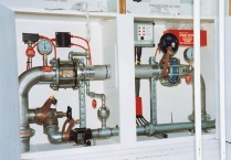 Sprinkler system works and control panel contained in purpose-built cupboard