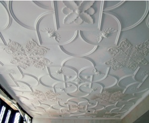 Elegant Strapwork To A Restored Plaster Ceiling