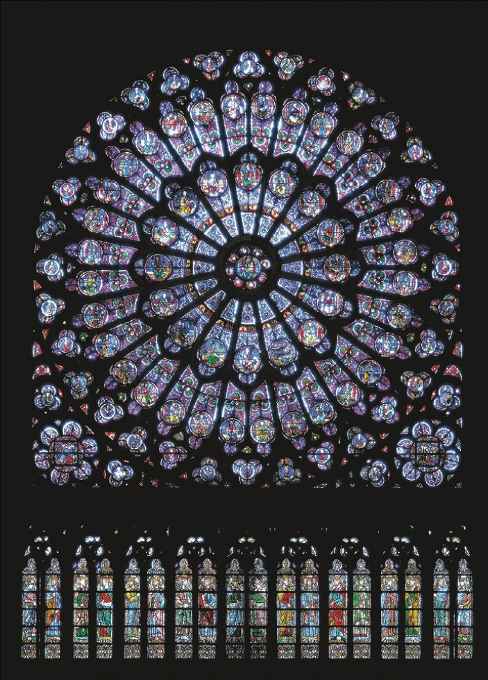 The rose windows of Notre Dame, unharmed by the fire