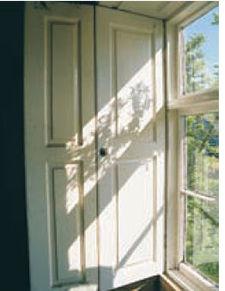Historic window shutters - Solid panel interior window shutters ...