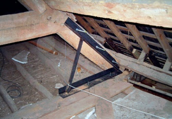 Metal brackets for post and beam construction