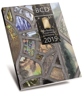 Cover image ot the 2014 edition of the Building Conservation Directory